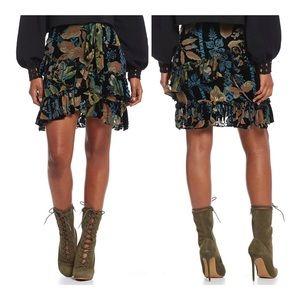 NWT - Chelsea & Violet Burnout Velvet Ruffle Skirt